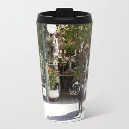 Dog in the Flower District, Paris - travel photography Travel Mug