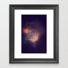 Meet Me in the Stars Framed Art Print