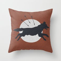 Wolf & Arrow Throw Pillow