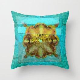Embezzled Head Trip Flower  ID:16165-074104-06071 Throw Pillow