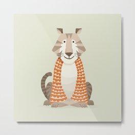 Whimsical Tiger Metal Print