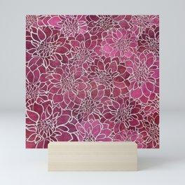 Dahlia Flower Pattern 2 Mini Art Print