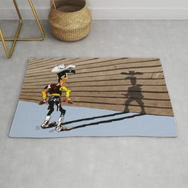 OUUUPS! - wooden wall version Rug