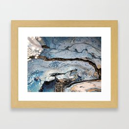 Ice Flow Framed Art Print