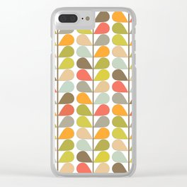 Retro Mid Century Modern Pattern 3 Clear iPhone Case