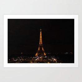 Eiffel Tower (2) Art Print