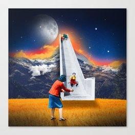 Let It Slide Canvas Print
