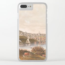 Vintage Pictorial View of Augusta ME (1854) Clear iPhone Case
