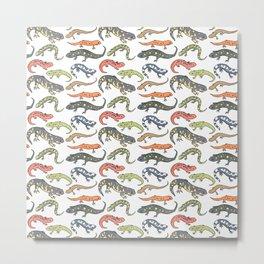 Salamander Pattern Metal Print