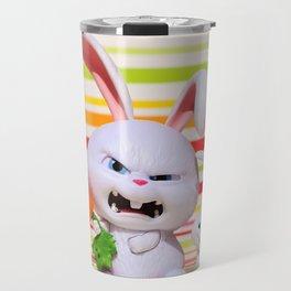 hare, evil, snowball, film character, pets, funny, cute, animal, toys, children, fun, Travel Mug