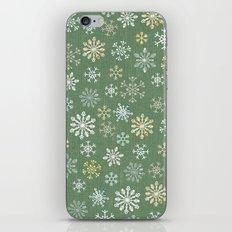 christmas snowy green iPhone & iPod Skin