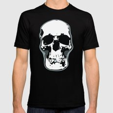 Skull Print Mens Fitted Tee LARGE Black