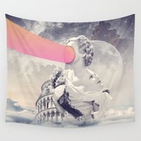 sisters Wall Tapestries featuring sisters by Peg Essert