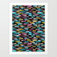 stripes Art Prints featuring Stripes by Meryl Pardoen