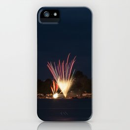 Fireworks Over Lake 11 iPhone Case