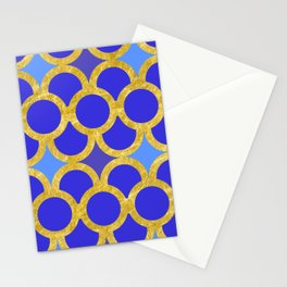 Blue Gold Scales Stationery Cards