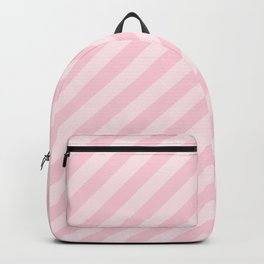 Mini Soft Pastel Pink Candy Cane Stripes Backpack