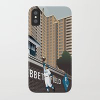 dodgers iPhone & iPod Cases featuring Ther Used to be a Ballpark Here by John W. Tomac