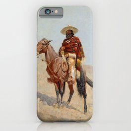 """Mexican Vaquero Horseman"" by Frederick Remington iPhone Case"