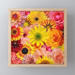 ORANGE FLOWERS Framed Mini Art Print