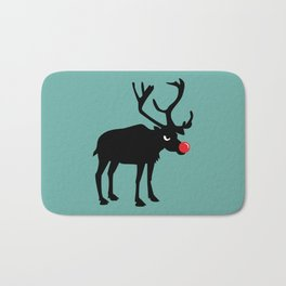 Angry Animals: Rudolph the red nosed Reindeer Bath Mat
