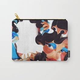 Daughter and Mother Children's Book Illustration Carry-All Pouch