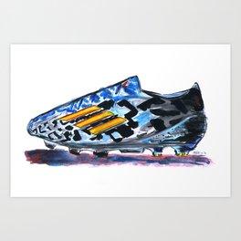 Adidas F50 Adizero Battle Pack wore by Messi  Art Print