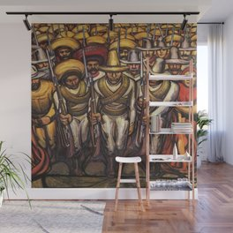 From the Dictatorship of Porfirio Díaz to the Revolution, The People in Arms by David Siqueiros Wall Mural