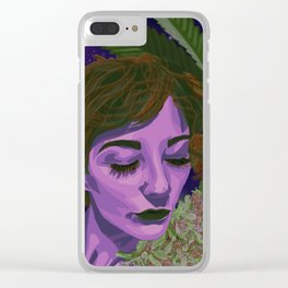 Canna-Queen Clear iPhone Case