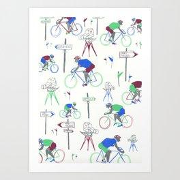 Race Riding  Art Print
