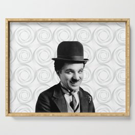 Charlie Chaplin Old Hollywood Serving Tray