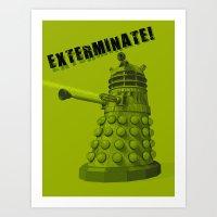 dalek Art Prints featuring Dalek by Digital Arts & Crafts by eXistenZ