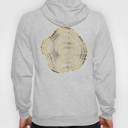 Gold Tree Rings Hoody