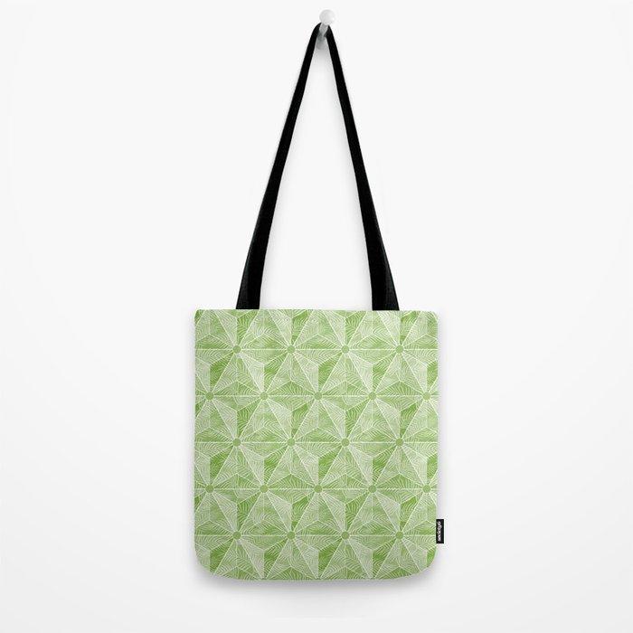 Geodesic Palm_Green Tote Bag