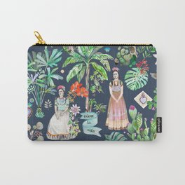 Frida Kahlo Botanics - Carbon Grey Carry-All Pouch