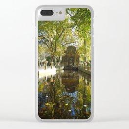 La Fontaine de Médicis Clear iPhone Case