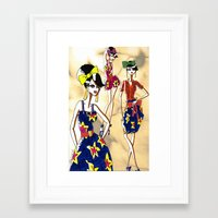 marc jacobs Framed Art Prints featuring Marc Rendition5 by Ashley Love