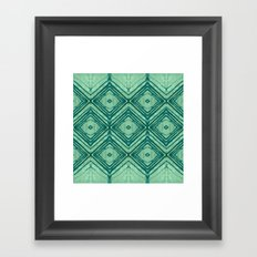 watercolor diamond seafoam green Framed Art Print