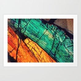 Epidote and Quartz Art Print