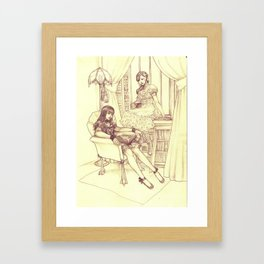 Shut Up And Read Framed Art Print