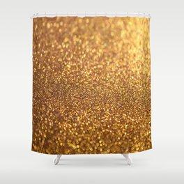 Golden Glitter Glamour Shower Curtain
