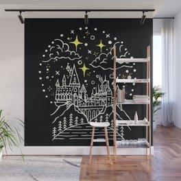 Hogwarts Castle Illustration Wall Mural