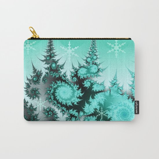 Winter magic in soft blue Carry-All Pouch