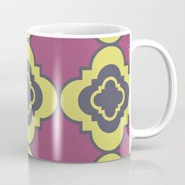 Quatrefoil - mauve, blue and yellow Coffee Mug