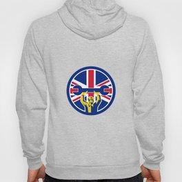 British Mechanic Union Jack Flag Icon Hoody
