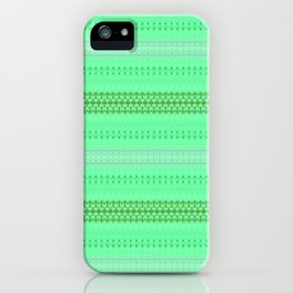 Mint Green Abstract XIV iPhone Case