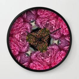 Rose Triangle Wall Clock