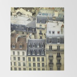 Paris Rooftop #2 Throw Blanket