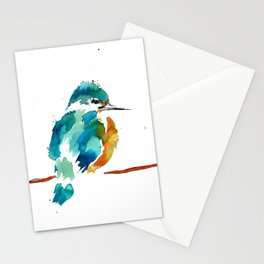 Golden Kingfisher Stationery Cards
