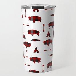 Buffalo Tribe // Red Check Travel Mug